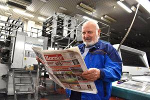 Martin Olejník počas praxe vyskúšal už takmer všetky pozície, ktoré práca v tlačiarni ponúka.