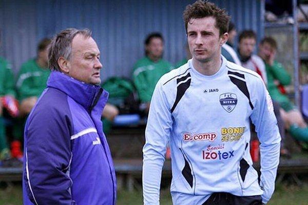 Tréner Ladislav Hudec a navrátilec Jaroslav Kolbas.