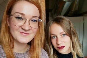 Poradenstvo aj kariérové služby bežia aj v čase dištančnej výučby. Na snímke Veronika Zibrinyiová (vľavo) so Zuzanou Kožárovou.