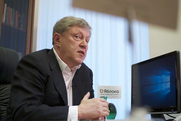 Ruský opozičný politik Grigorij Javlinskij.