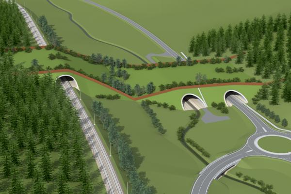 Vizualizácia ekoduktu vo Svrčinovci