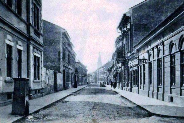 Mäsiarska ulica v Košiciach.