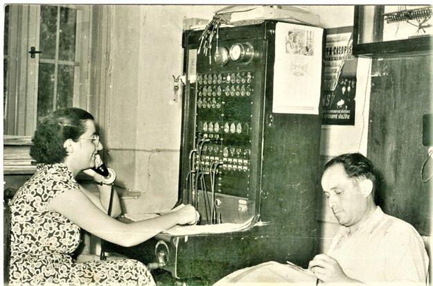 Haličská pošta v roku 1955