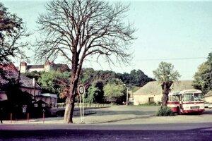 Pohľad na námestie v Haliči v roku 1977. Pomocou ďalších fotiek sa pozrieme aj hlbšie do minulosti.