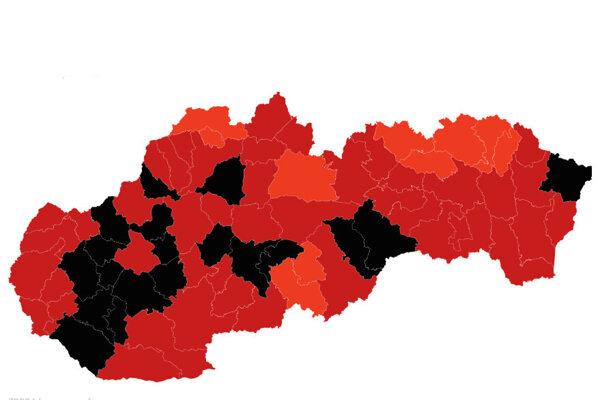 Regionálny covid automat platný od 22. februára.