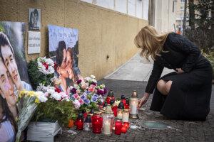 Prezidentka Zuzana Čaputová si uctila pamiatku zavraždených Jána Kuciaka a Martiny Kušnírovej.