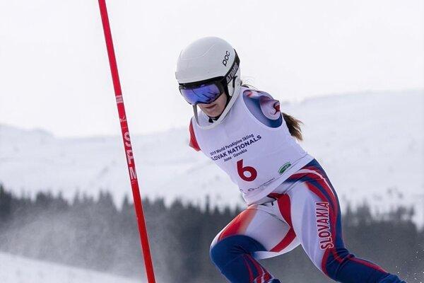 Vanesa Gašková na Národných pretekov v Jasnej v roku 2019.