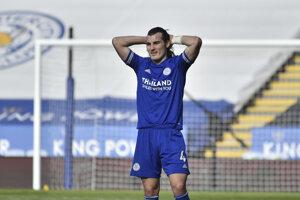 Sklamaný hráč Leicester City Caglar Soyuncu.