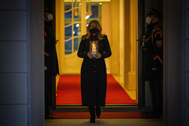 Prezidentka Zuzana Čaputová si uctila obete pandémie.