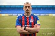 Marin Ljubičič v drese FK Senica.
