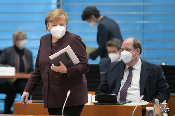Angela Merkel a Helge Braun
