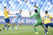 Tretí gól Slovana strelil Moha.