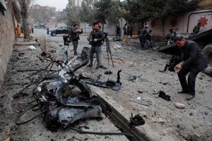 Následky februárového útoku Talibanu v Kábule.
