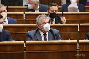 Ján Richter v parlamente.