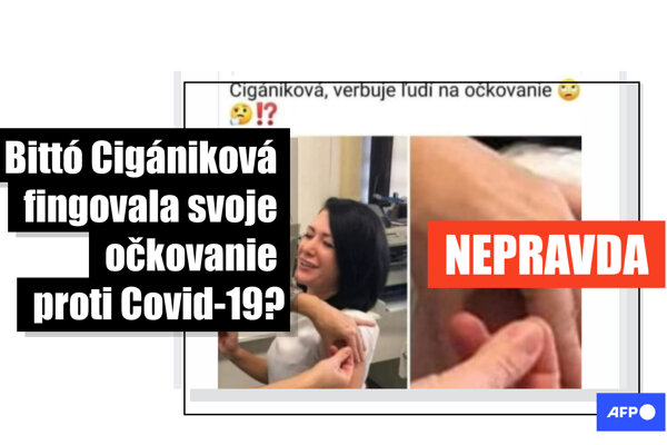 Konšpirátori zneužili Cigánikovej viac ako dva roky starú fotografiu z očkovania proti chrípke.