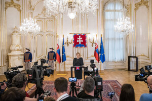 Prezidentka Zuzana Čaputová počas vyhlásenia k aktuálnej politickej situácii.
