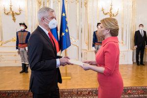 Ivan Korčok a prezidentka Zuzana Čaputová.