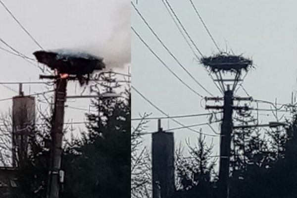 Počas požiaru a dnes.