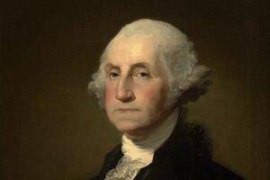 Portrét Georga Washingtona od amerického maliara Gilberta Stuarta namaľovaný až v roku 1803, teda po smrti prvého amerického prezidenta.