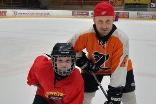 Marek Klačanský so svojim synom Marekom.