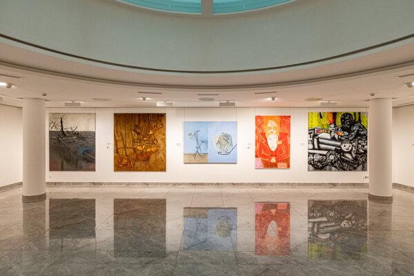 Z výstavy finalistov 15. ročníka súťaže Maľba roka.