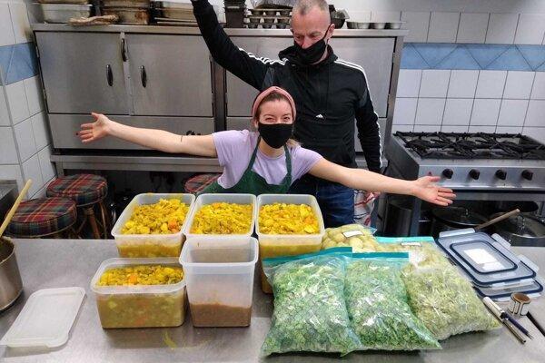 Barbara Kráľovičová v takzvanej komunitnej kuchyni.