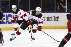 Marián Studenič v drese New Jersey Devils v NHL.