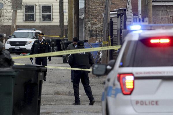 Miesto zásahu polície voči Adamovi Toledovi v chicagskej štvrti Little Village.