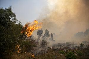 V plameňoch sa ocitla vegetácia na svahoch vypínajúcich sa nad štvrťou Newlands.