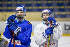 Juraj Slafkovský a Šimon Nemec.