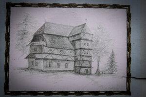 Predtým, ako mali murovaný kostol, stál vĽupči drevený kostol. Jeho základy dodnes vidieť, nachádzal sa blízko súčasného, na opačnom brehu potoka