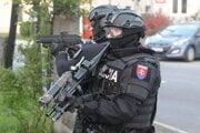 Zásah Národnej kriminálnej jednotky boja proti nelegálnej migrácii.