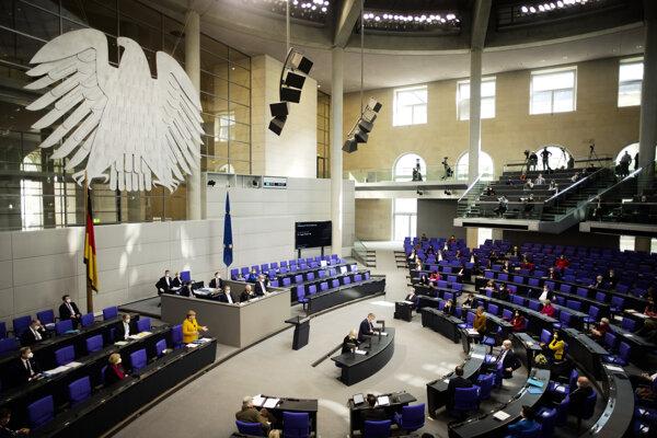Plénum nemeckého parlamentu.