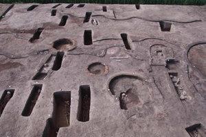 Archeologické nálezisko v delte Nílu.