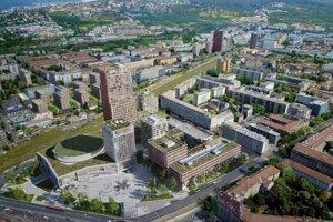 Vizualizácia novej podoby Istropolisu.