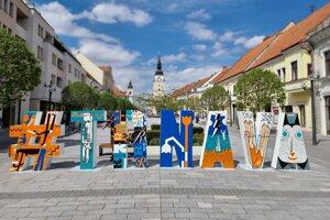 Nový hashtag na pešej zóne v Trnave.