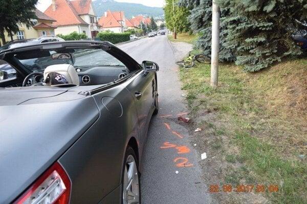 Nehoda sa stala v roku 2017 pod Zoborom.