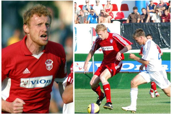Ondrej Číž písal históriu FC ViOn. Za maličké Zlaté Moravce si štyrikrát zahral pohárovú Európu. Vpravo na snímke s Igorom Denisovom, 54-násobným reprezentantom Ruska.