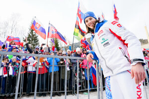 Petra Vlhová na jednom z lyžiarskych podujatí, v minulej sezóne.