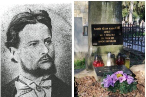 Vladimír Všeslav Kráľ. Detail pomníka V. Kráľa v Leviciach.