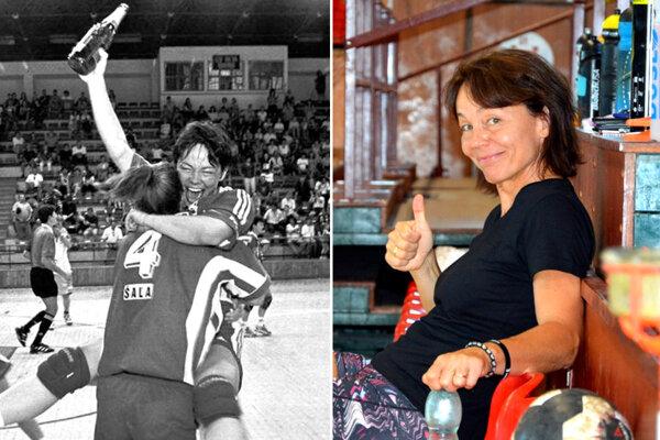 Janette Pálová kedysi pri zisku jednom z majstrovských titulov a dnes ako mládežnícka trénerka.