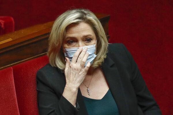 Extrémistická politička Marine Le Penová.