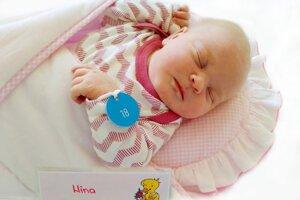 Nina Satinová z Bojníc sa narodila 2.5.2021 v Bojniciach