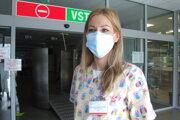 Lekárka Jana Andrašovičová Burdová z infekčnej kliniky.