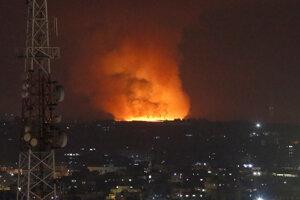 Odvetné nálety izraelského letectva na Gazu.