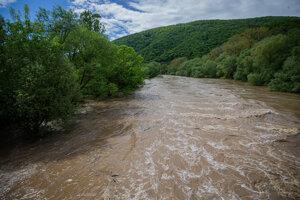Povodeň v Rudne nad Hronom.