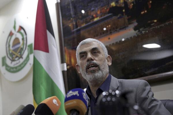 Líder Hamasu v pásme Gazy Jehíja Sinwar.