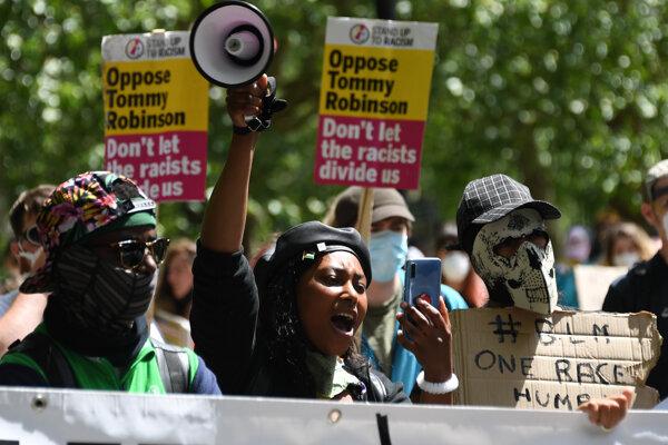 Sasha Johnsonová počas minuloročných protestov.
