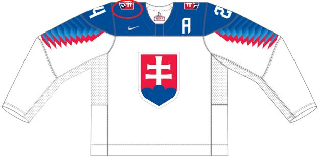 Pôvodný dres pre majstrovstvá sveta v hokeji 2021, v ktorých mali slovenskí hokejisti nastúpiť.