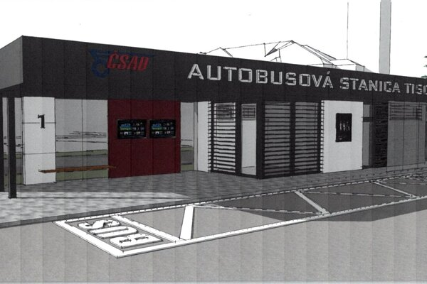 Návrh vizuálu autobusovej stanice v Tisovci
